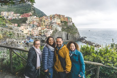 Visitors in Manarola