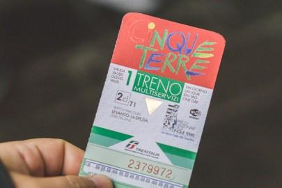 Cinque Terre train ticket