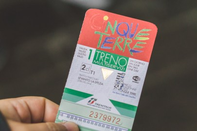 Cinque Terre train ticket