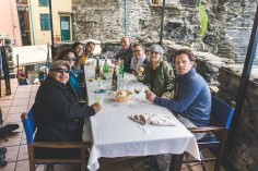 Friends at lunch in Vernazza