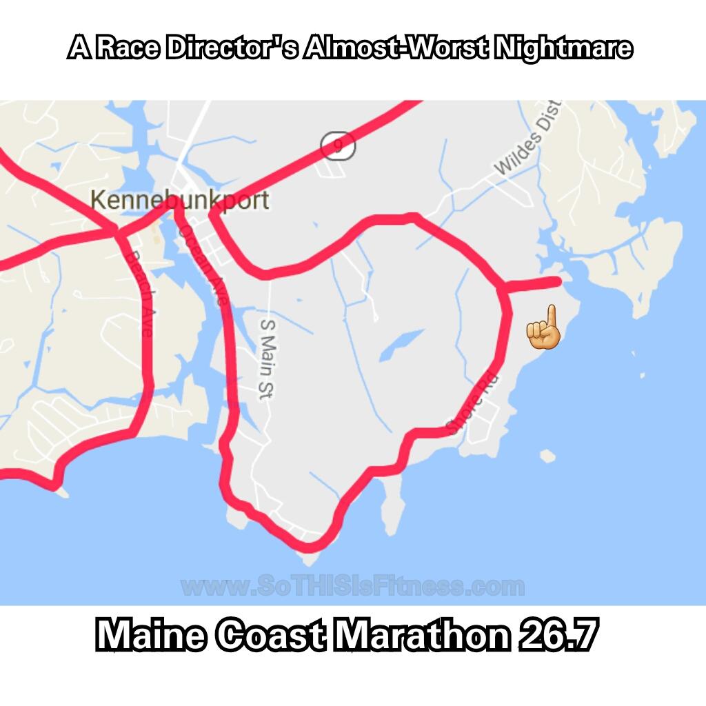 Maine Coast Marathon course error