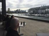 Coffee along the way in the Jones Bay Wharf area