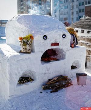 如何创造一只雪狗小雕像