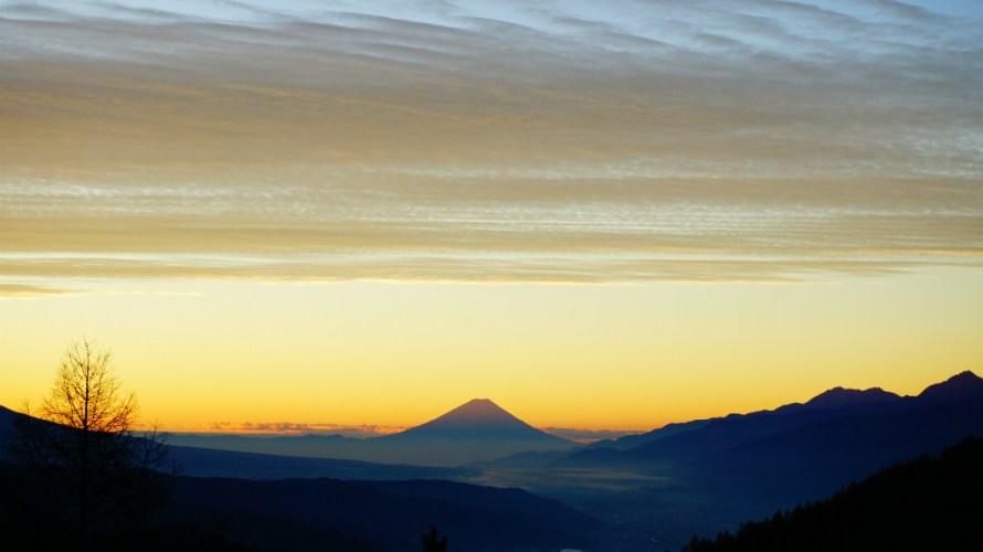 【撮影スポット】高ボッチから富士の朝焼けを堪能!