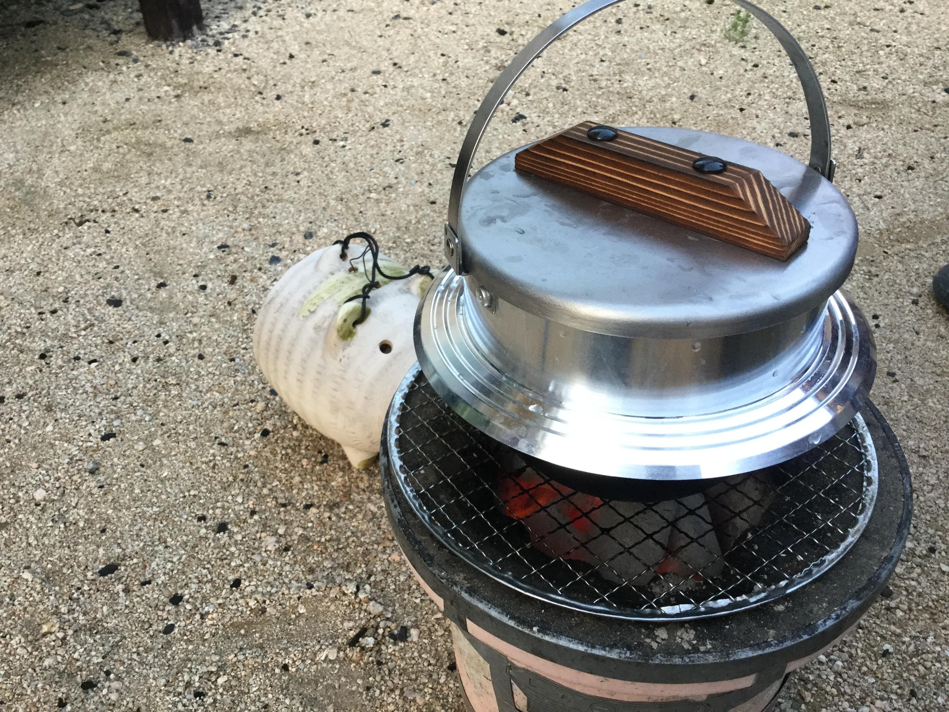 米炊きには羽釜だ!こだわりアイテムで美味しいキャンプ飯!