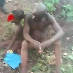 (Photos) Barbaric!  Elderly man caught molesting 4-year-old girl in a bush