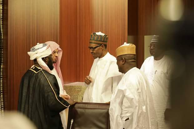 The Imam of Prophet Muhammad's Mosque in Saudi Arabia visits President Buhari ; See what they discussed