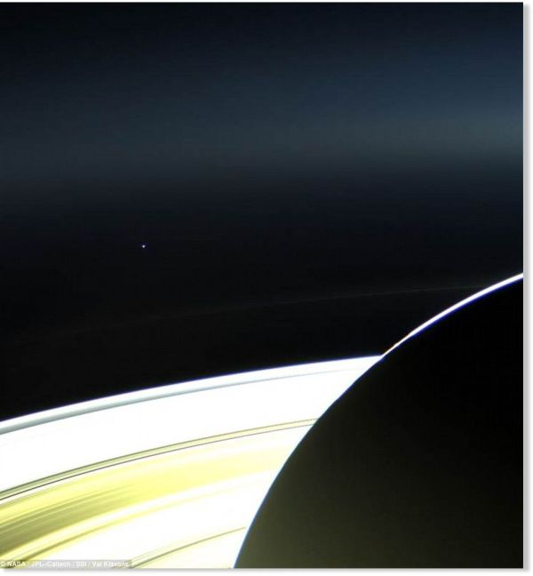 Small Dot Landscape Spectacular Earth Saturn 900 Million Miles