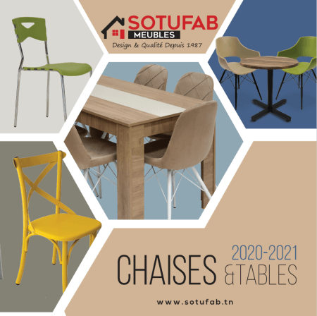 Collection chaises et tables SOTUFAB