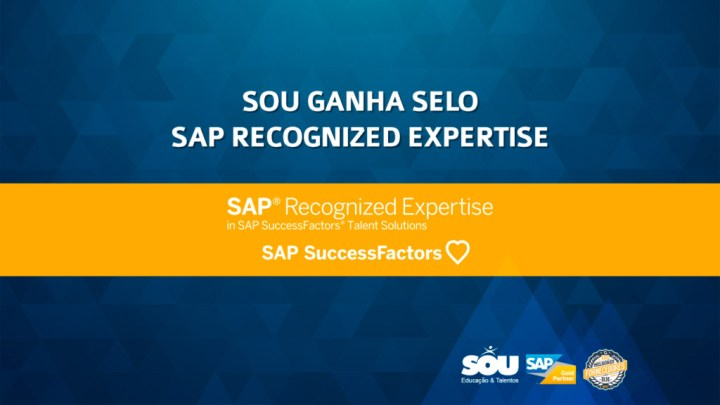 SOU ganha selo SAP Recognized Expertise para SAP SuccessFactors