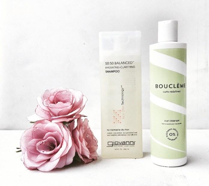 Le Curl Cleanser de chez BOUCLEME - 22 euroset Le Shampoing Equilibré 50:50deGiovanni - 9,90 euros sur le site Lecurlshop