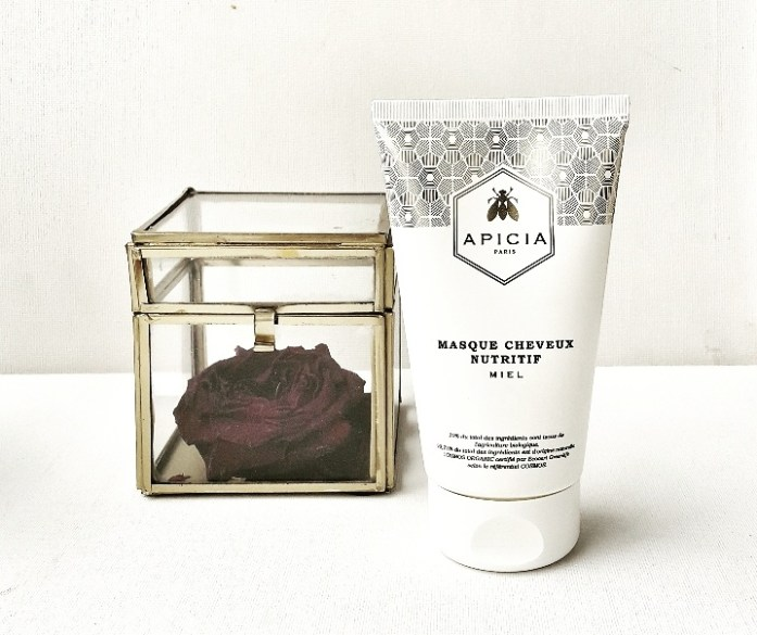 Masque Capillaire au MIEL APICIA: Formulation : 99,75% d'origine naturel, 10% bio, Testé sous contrôle dermatologique, Texture : Onctueuse, Contenance : 150 ml, Prix: 28,00 €