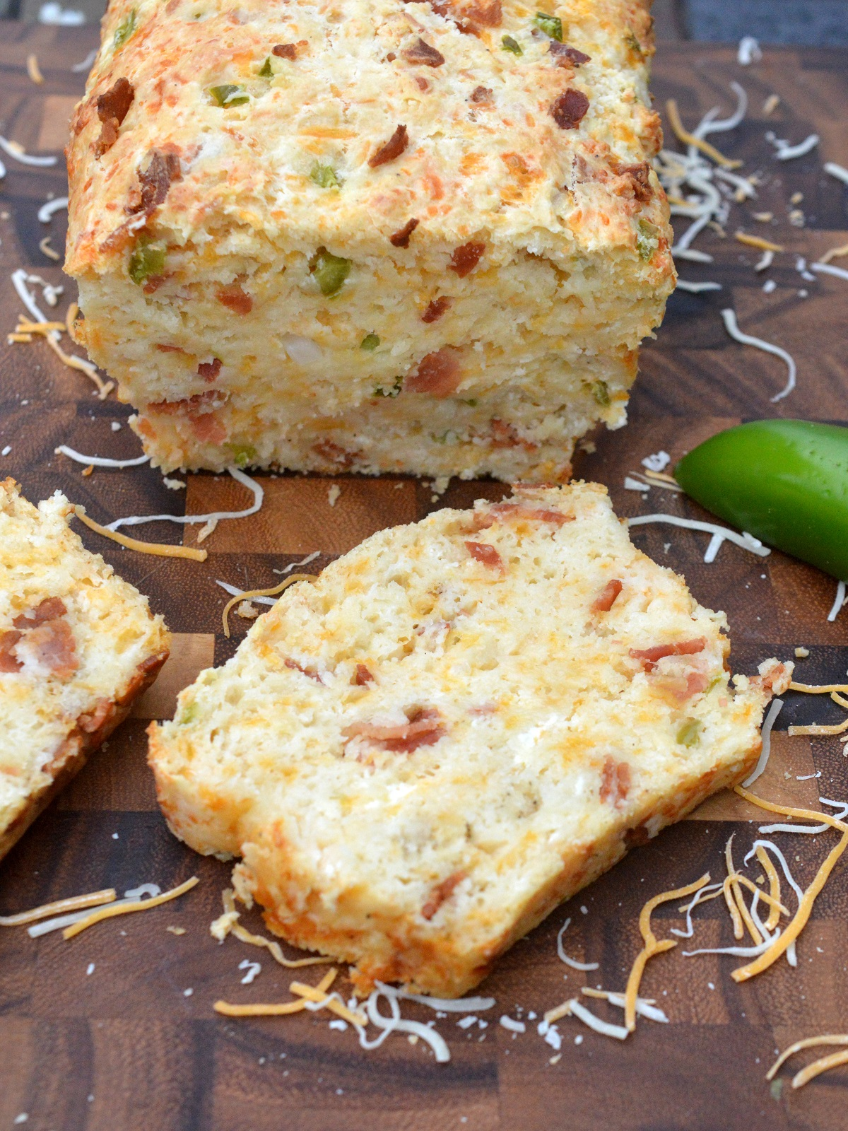 Bacon Cheese Jalapeno Quick Bread Recipe