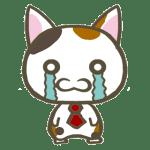 LINEスタンプ悲しい猫