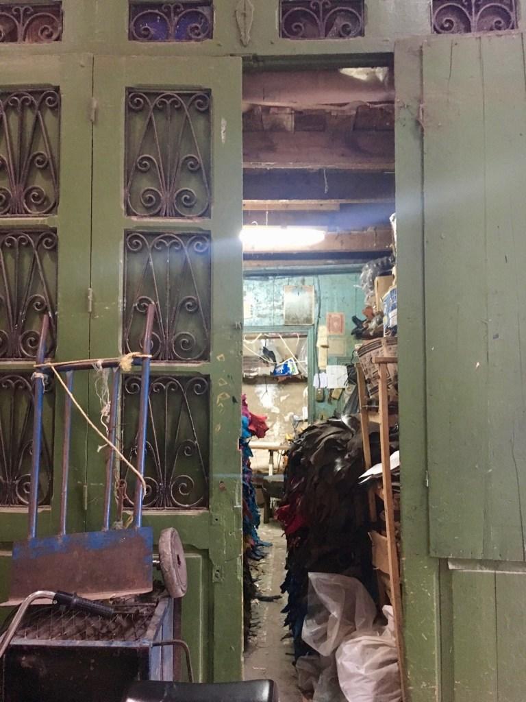 Entrance to Souheil Fitouri's atelier