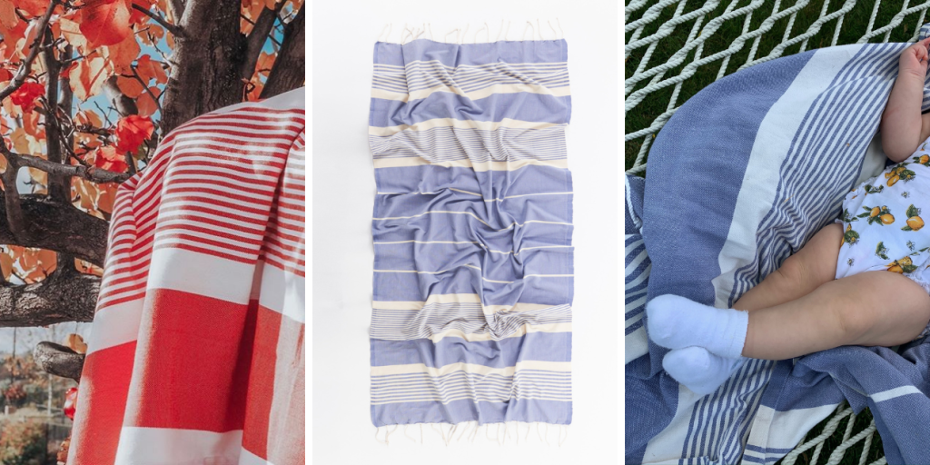 Fouta blanket on vacation blog