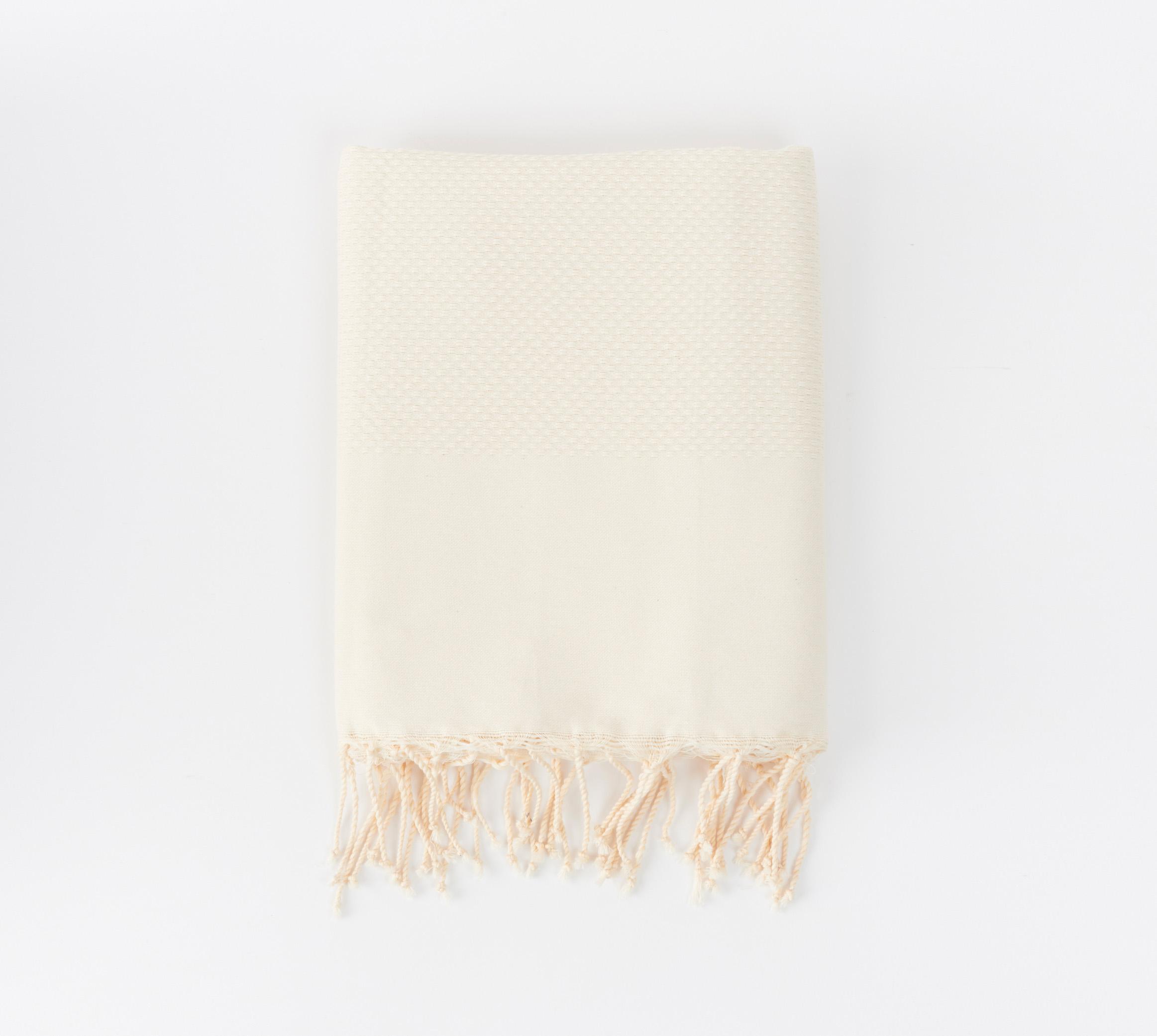 Senda Fouta Towel in Jasmine White