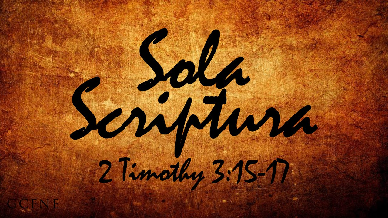 Image result for sola scriptura