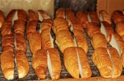 White bread cut in quarters