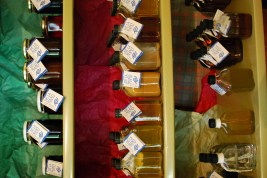 Liquors, made at the Farm with flavors grown on the farm (except the chocolate!)