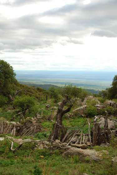 Ranch Ruins overlooking the valley, halfway up the Sierra Cordobas