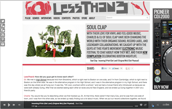 Soul Clap Interviewed by LessThan3