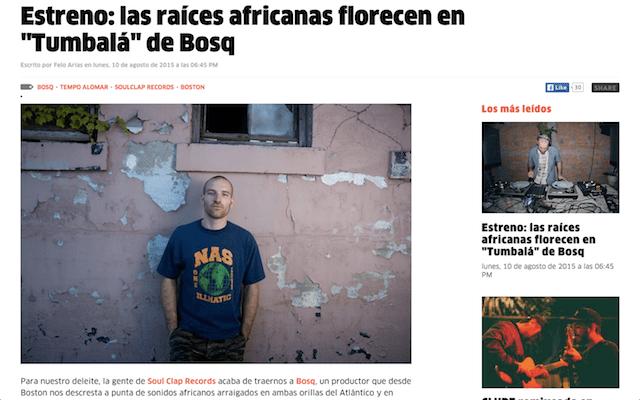 Bosq's Tumbalá EP Premieres on RBMA Panamérika