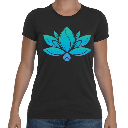 Women Colored Lotus w/website on back