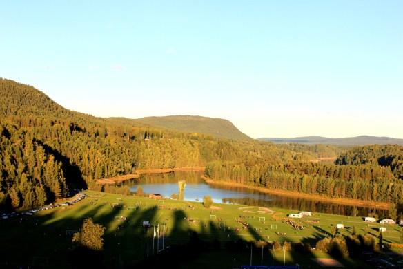 Klassisk vy över Multråberget (dit kan man ta med fika)