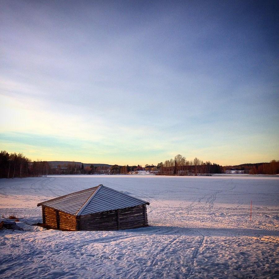 Långsele Camping på vintern