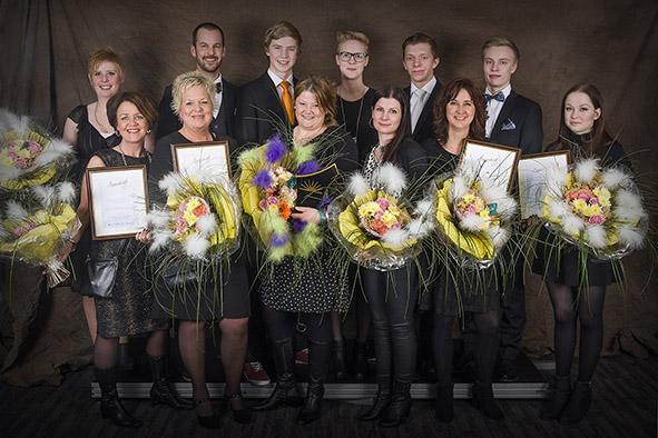Vinnarna på Stjärnkväll 2015 - Foto av Sandbergs Foto i Sollefteå