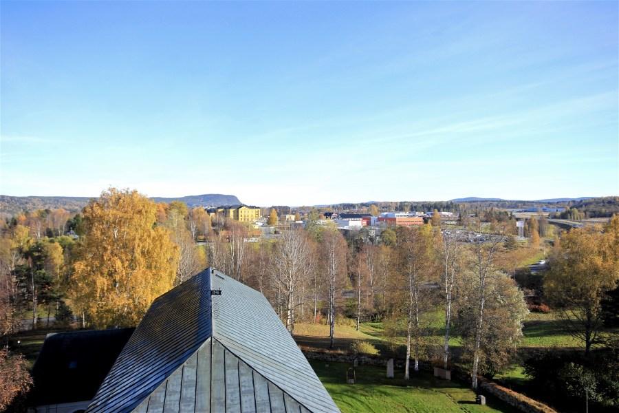 Vy från Sollefteå kyrka