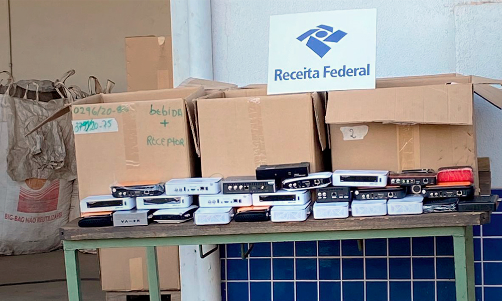 Receita Federal destrói 7 mil TV Box piratas