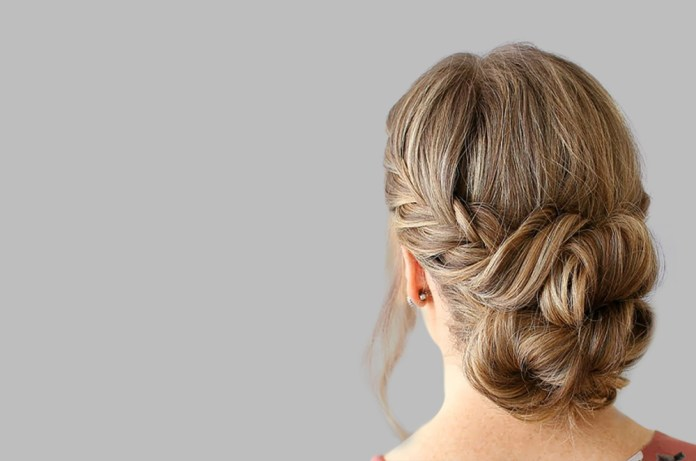 Lazy French Braid Bun