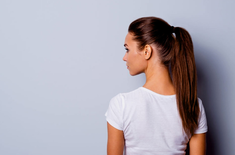 Elevated Ponytail Hairstyle For Working Moms
