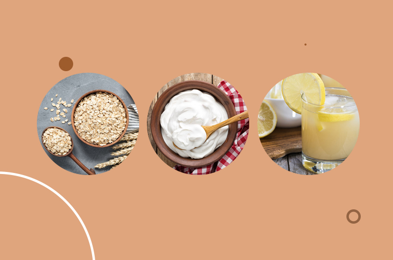 Oats, Yogurt, and Lemon Juice