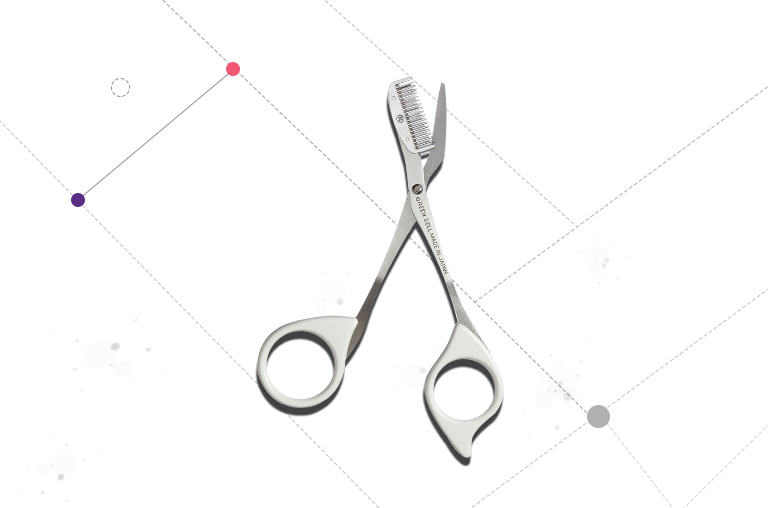 Seki Edge Eyebrow Comb Scissors