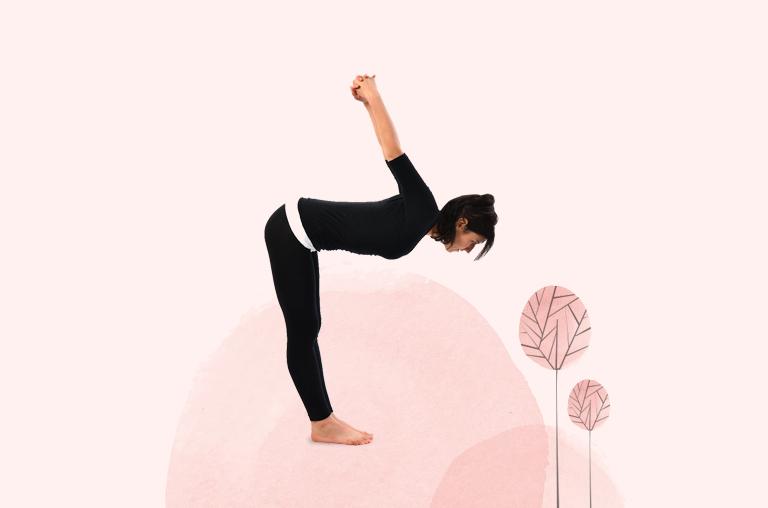 Dwikonasan - Double Angle Pose