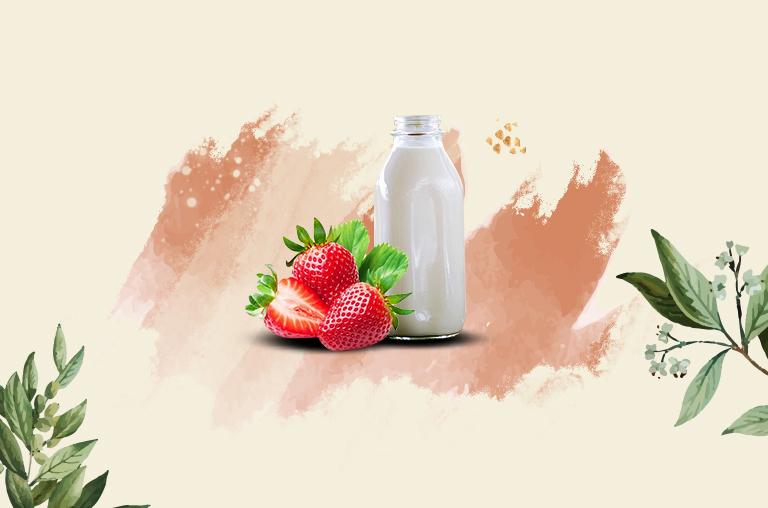 Strawberries and Raw Milk