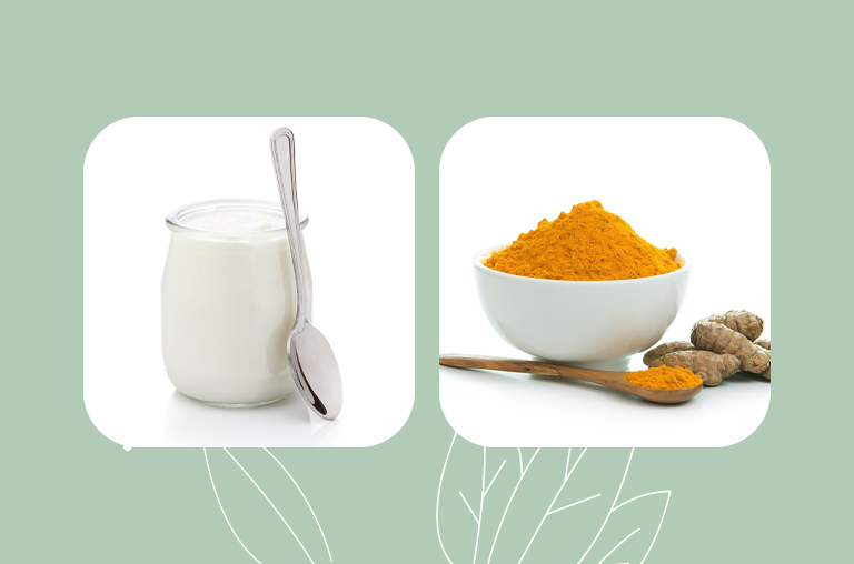 Yogurt and Turmeric Powder