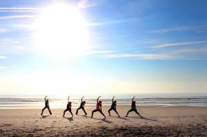 Sunset_yoga_Volleyball_Redondo_Beach