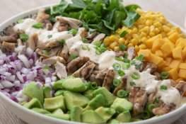 grilled chicken salad gegrilde kip salade recept