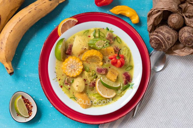caribbean ground provisions soup caribische ground provision soep recept recipe
