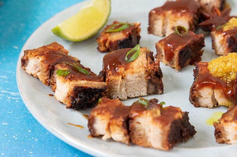 pork belly geroosterd spek babi pangang cha siu recept