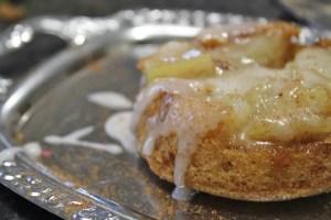 Cinnamon, apple and lemon velvet cake.