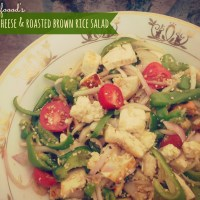Cottage cheese & toasted brown rice salad