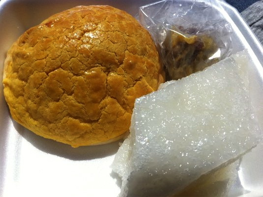 Perhaps the best pineapple bun and sweet rice cake in L.A.