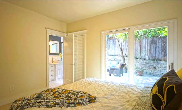 Bedroom with patio access