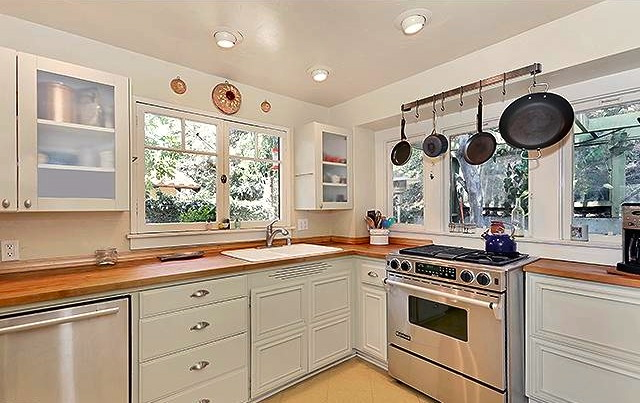 Kitchen with professional-grade appliances