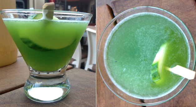 The Eastsider: emulsified mint, cucumber & vodka